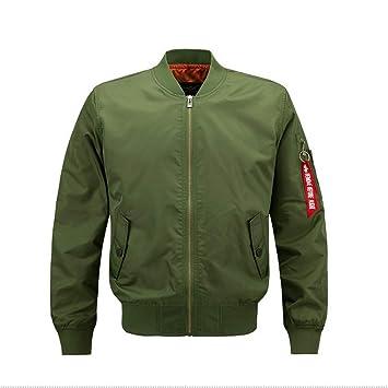 FuweiEncore Chaqueta Estilo Cazador Hombre piloto diseño Parche (Color : Verde, tamaño : Large): Amazon.es: Hogar