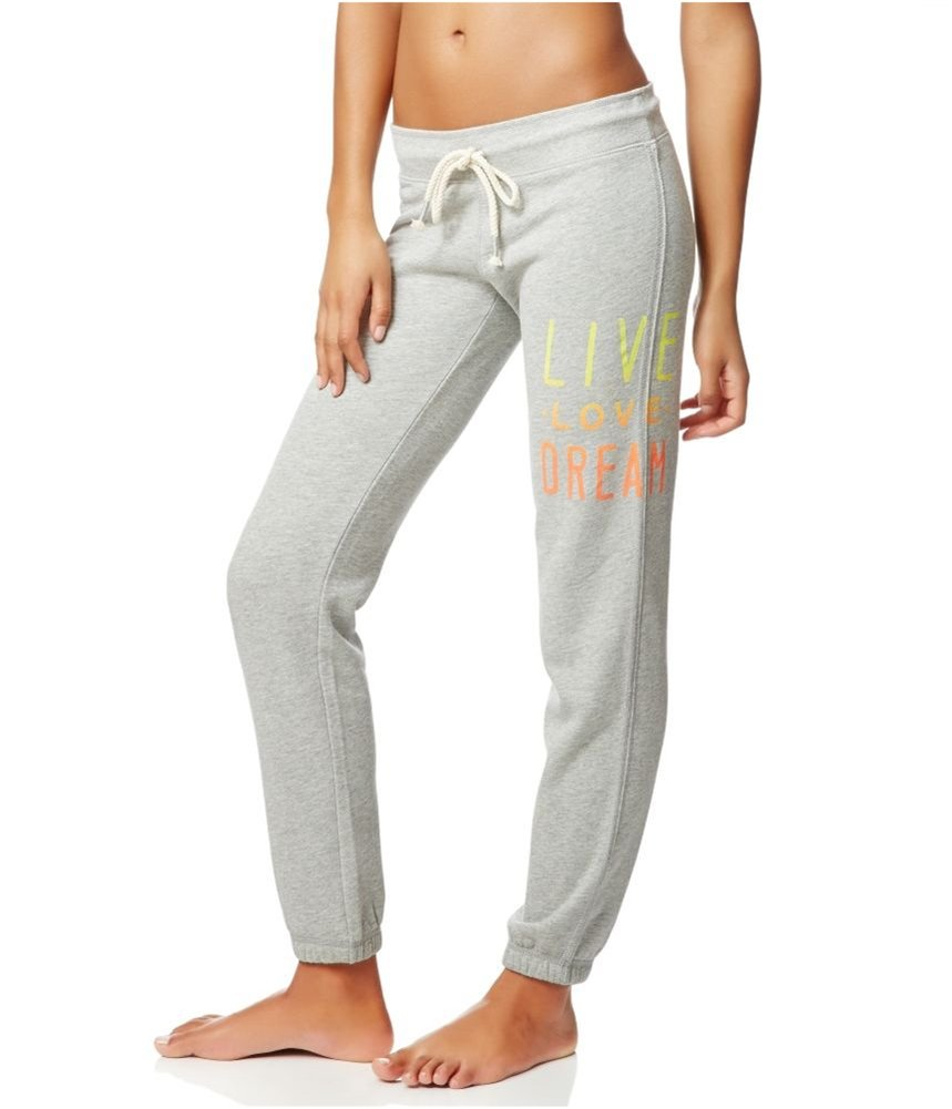 Aeropostale Womens LLD Stacked Cinch Athletic Sweatpants Grey S/28 - Juniors