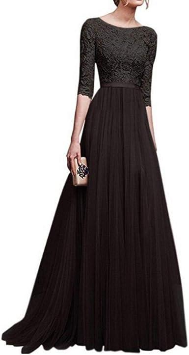 2 Shoulder Lace Chiffon Bridesmaid Wedding Dress Maxi Evening Party Ballgown UK
