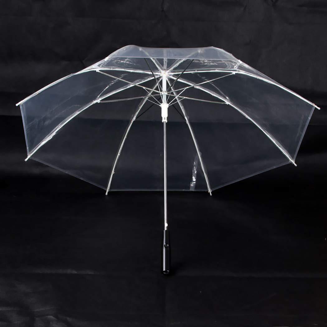 Joyibay Parapluie Clair Mode Parapluie /à LED B/âton Parapluie Parapluie Pluie Parapluie Transparent