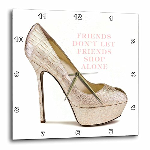 3dRose dpp_80302_1 Snakeskin High Heel-Wall Clock, 10 by 10-Inch