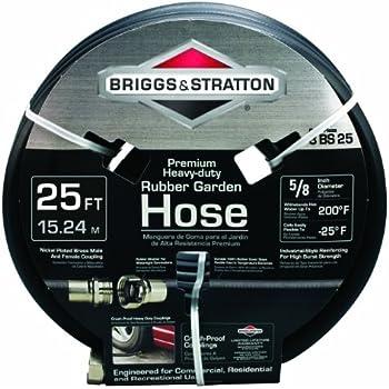 Briggs and Stratton 8BS25 25-Feet Premium Heavy-Duty Rubber Garden Hose
