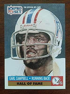 Earl Campbell - 1991 Pro Set #27 Hall of Fame - Houston Oilers / Texas Longhorns