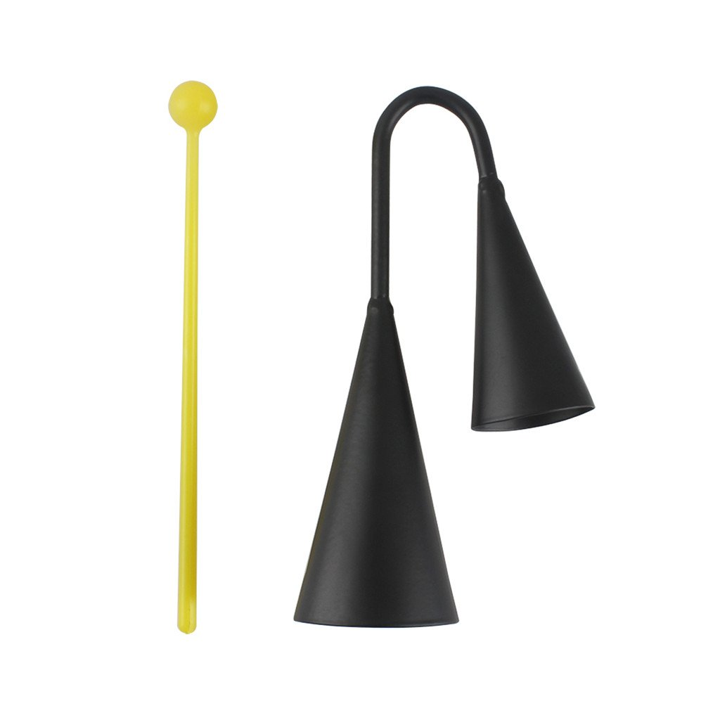 MagiDeal Black Iron Double Cowbell for Musical Instruments STK0157006936