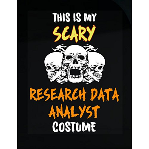Inked Creatively This is My Scary Research Data Analyst Costume Halloween - Sticker