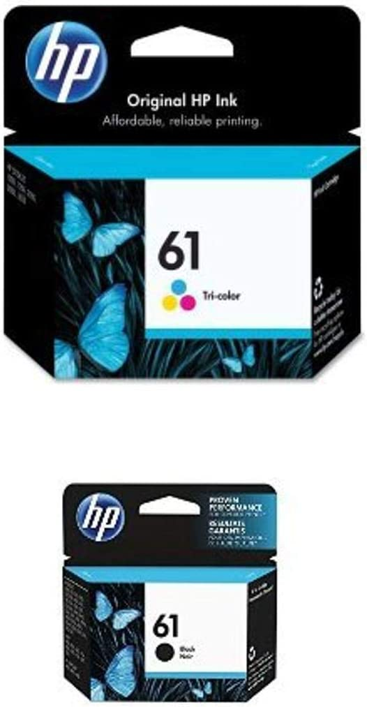 HP 61   Ink Cartridge Bundle   Black, Tri-color   CH561WN, CH562WN