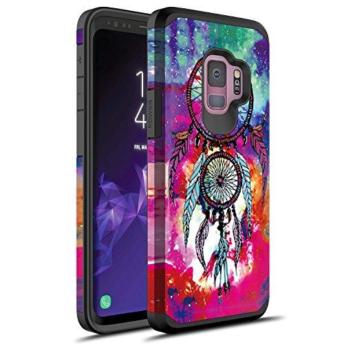 S9 Plus Case, Galaxy S9 Plus Case, Rosebono Slim Hybrid Dual Layer Shockproof Hard Cover Graphic Fashion Cute Colorful Silicone Skin Cover Armor Case for Samsung Galaxy S9 Plus (Dream Catcher)