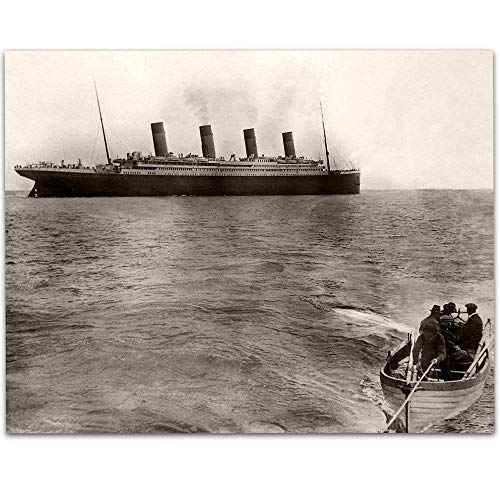 The Titanic's Last Known Photograph - 11x14 Unframed Art Print - Great Gift Under $15 for People Who Are Fascinated by The Titanic from Personalized Signs by Lone Star Art