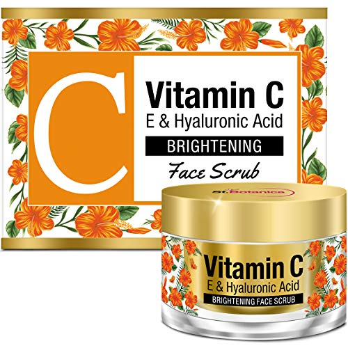 StBotanica Vitamin C, E & Hyaluronic Acid Brightening Face Scrub, ()