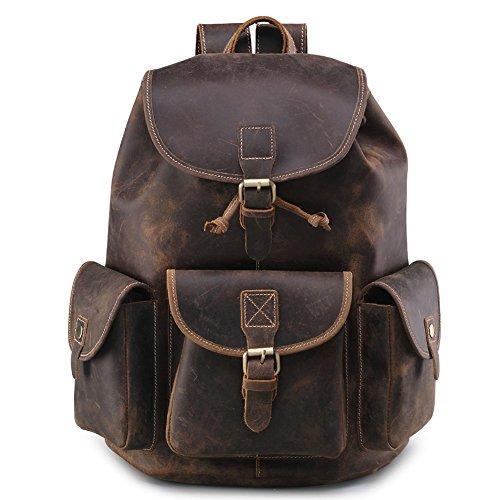 Amazon.com | Teemzone Mens Boys Crazy Horse Leather Casual Messenger Satchel School Bag (Coffee) | Messenger Bags