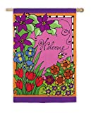 Cheap Flag, Reg, Bright Floral Welcome