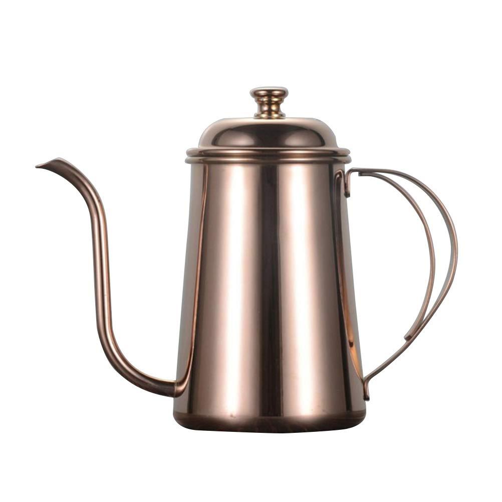 Acquisto BESTONZON Bollitore per Caffè caffettiera in acciaio inossidabile gocciolatoio da 650 ml per caffè americano fatto a mano (Rosa dorato) Prezzi offerta