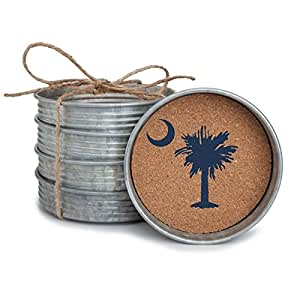 Occasionally Made Palmetto Moon Stack Coaster, Set of 4