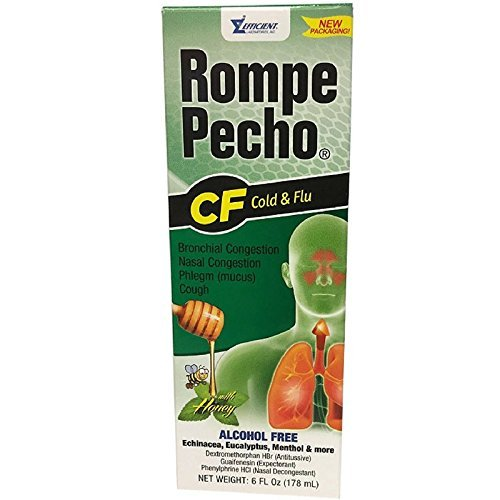 (Rompe Pecho CF Cough & Flu Syrup With Honey, 6 oz (Pack of 4))