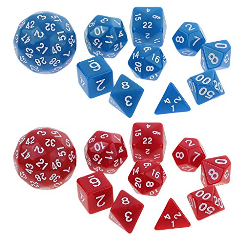 MagiDeal 20pc Polyhedral Playing Game Digital Dice Die for D&D TRPG RPG Board Games by Unknown