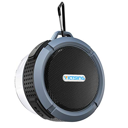 VicTsing C6 Shower Speaker, IPX5 Waterproof Bluetooth Speaker with 6H Playtime, 5W Big Sound, Built-in Mic, Portable Speaker with Suction Cup & Sturdy Hook, Suit for Bathroom, Hiking, Biking, Pool