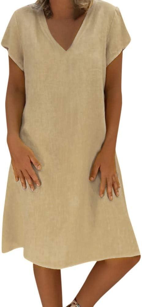 WDJYNL Vestido Vestido De Mujer Vestidos Largos Verano T-Camisa ...