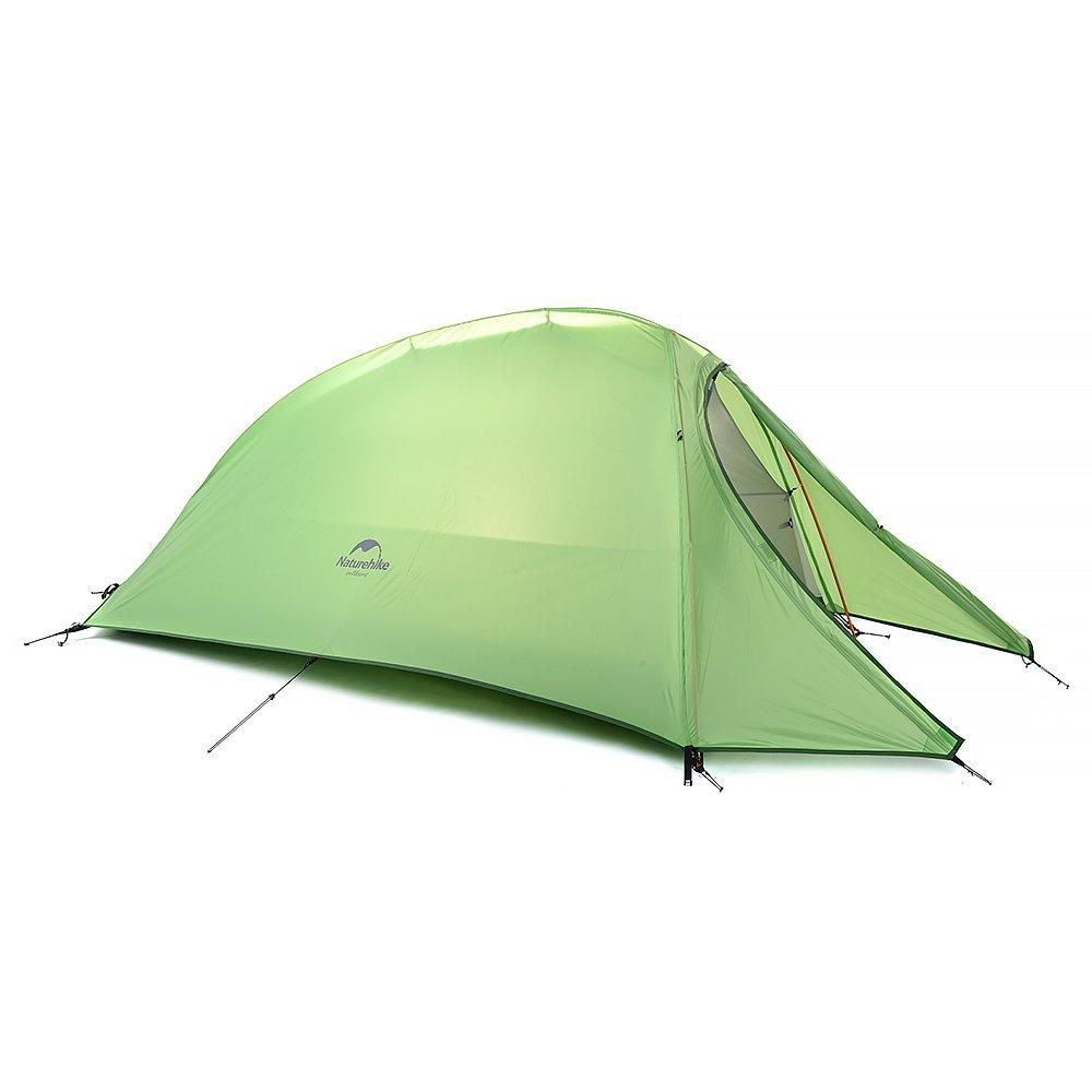 HYSENM アウトドア キャンプ テント 一人用 設営簡単 タープ機能付き 超軽量 防水性能抜群 キャンプ 登山 B01HIG0GCU 210T|グリーン グリーン 210T