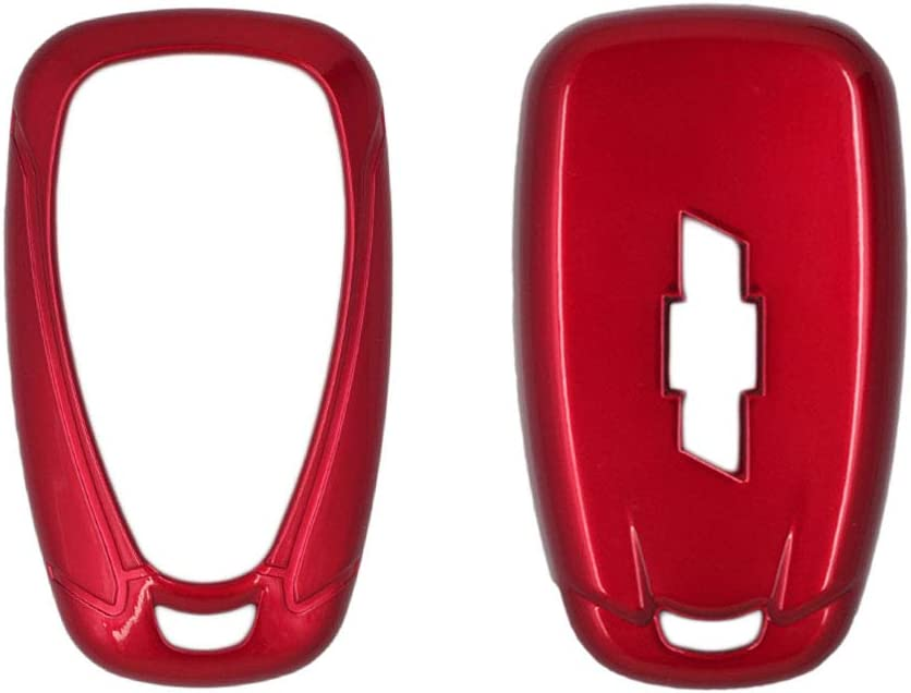 SEGADEN Paint Metallic Color Shell Cover Hard Case Holder fit for CHEVROLET Smart Remote Key Fob 2 3 4 5 6 Button SV0654 Red