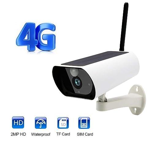 TONGTONG Cámara gsm inalámbrica de 4G con Tarjeta SIM ...