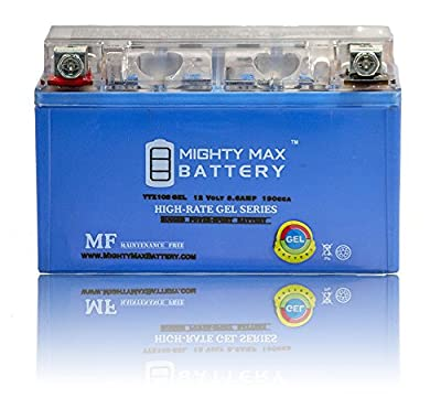 Mighty Max Battery 12V 8.6AH 190CCA Gel Battery Yamaha YZF-R1 (2004-2009) Brand Product
