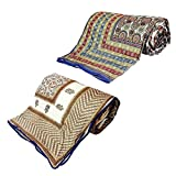 Little India Jaipuri Print AC Double Bed Comforters Pair Combo 314