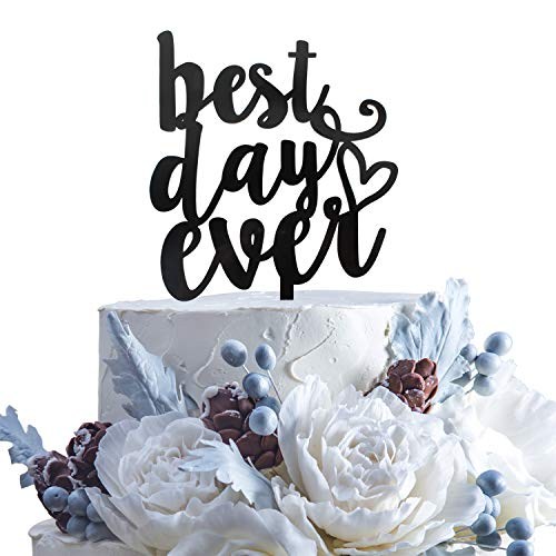 Best Day Ever Black Acrylic Cake Topper