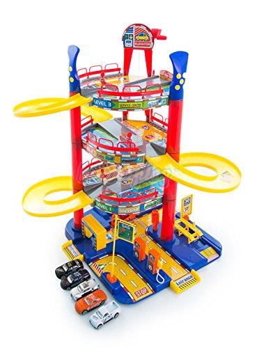 Autogarage Parkhaus KP4865 Spielzeug Spielstrasse Garage Spielzeugauto Neu