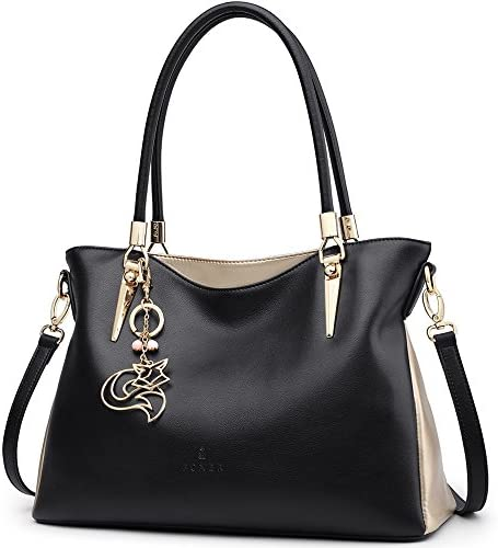 FOXER Women Handbag Leather Purse Lady Tote Shoulder Bag Top Handle Bag Mother s Day Gifts
