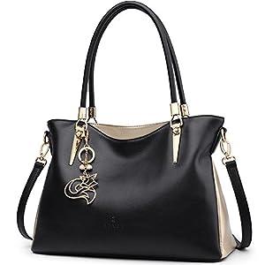 Women Leather Handbag Purse Lady Work Tote Shoulder Bag Top Handle Bag Satchel Carryall Ladies Pocketbooks