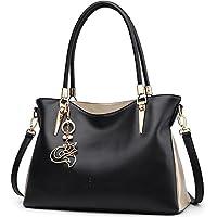 FOXER Women Tote Handbag Genuine Leather Shoulder Bag Satchel Tote Bag for Ladies
