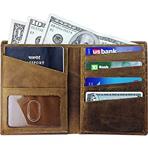 Angry German Shepherd Travel Leather RFID Blocking Case Wallet for Passport with Passport Holder Cover