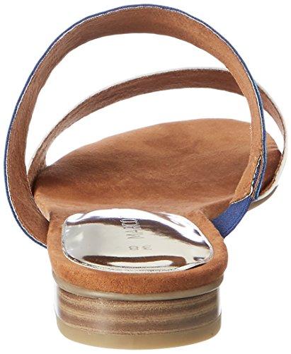 Marco Tozzi 27102, Sandalias con Cuña para Mujer Azul (Royal A. Comb. 856)
