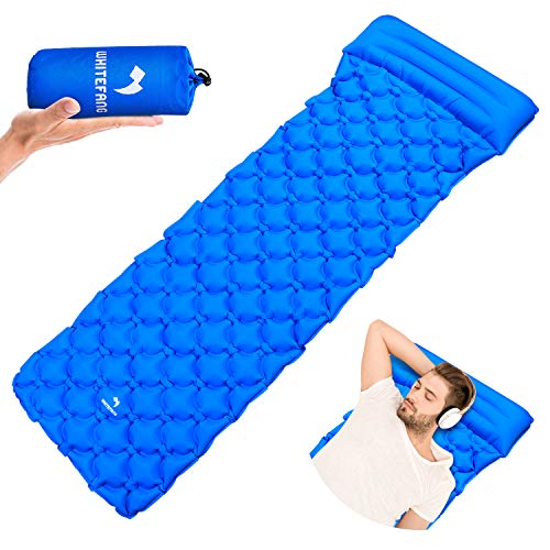 Ultralight Sleeping Pad, Inflatable Camping Mat with Pillow Portable Waterproof Gear for Backpacking Bag, Hiking, Outdoor, Hammock