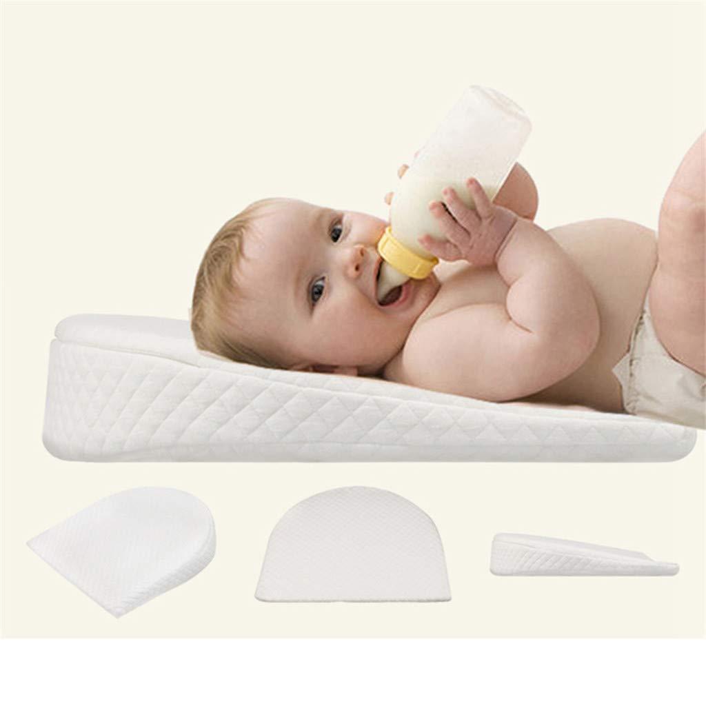 STRIR Cuña Antireflujo bebe | Almohada inclinada para cólicos bebé - desenfundable) (A)