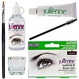 Julienne Eyelash Eyebrow Tint Tinting Kit Dye Dark Brown Tint Brush Dish Oxidant by Julienne