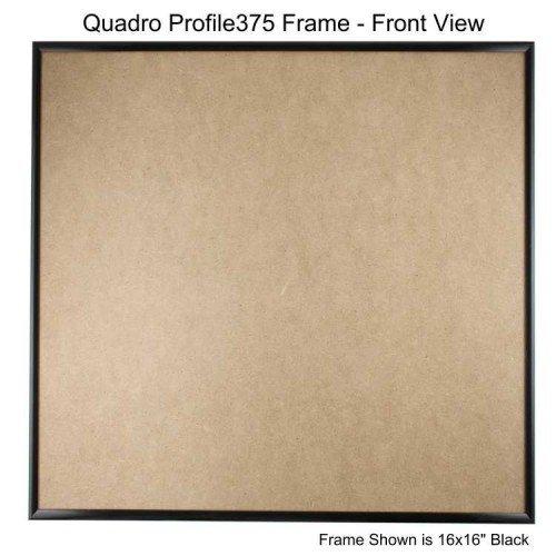 Quadroフレーム16 x 16インチ画像フレーム ブラック 4 ブラック B077GN5N5N