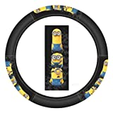Minions Stacked Steering Wheel Cover - Car Truck SUV & Van, Performance Speed Grip, Universal Size Fit 14.5'-15.5', Auto Interior Accessories - by Infinity Stock