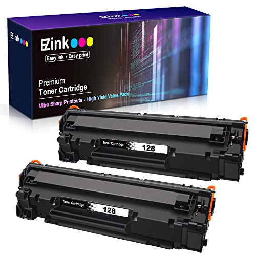 E-Z Ink (TM) Compatible Toner Cartridge Replacement for Canon 128 CRG128 3500B001AA to use with ImageClass D530 (Black, 2 Pack)