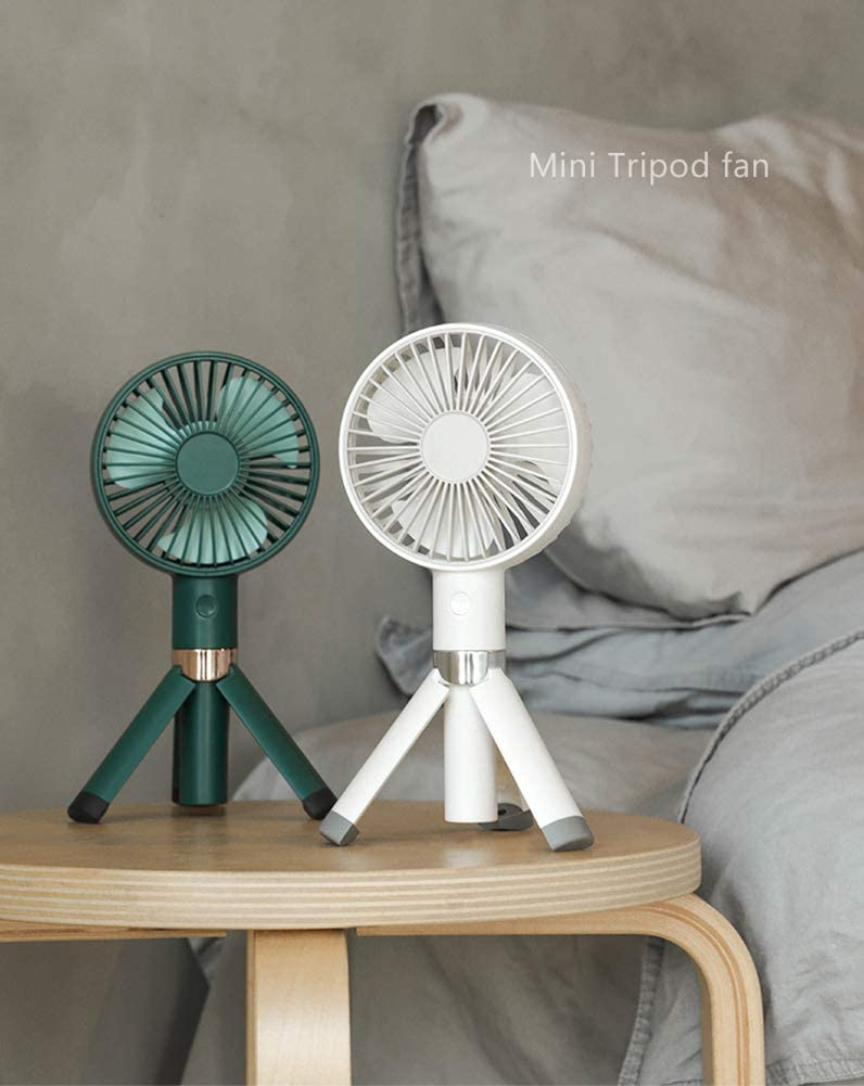 Mini USB Handheld Fan Desk Tripod Table Desktop Portable Personal Rechargeable Operated Fan for Home Office Camping Outdoor and Travel