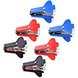 Cosmos  6 PCS Extra Wide Steel Jaws Style Staple Remover (Black, Red, Blue)