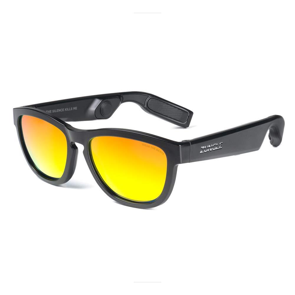 Auriculares ZUNGLE V2 Viper: Bluetooth Audio Sunglasses con Over-Ear True Inalambrico Conducción Osea s. para Men Blueto