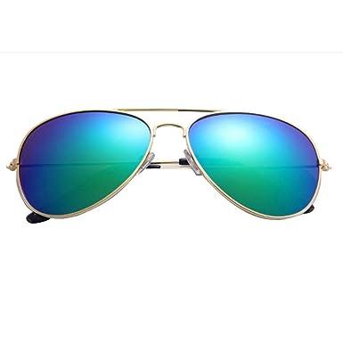 f10a18a1dcd30 LuckyGirls Lunettes de soleil Aviateur - Pilote - Fbi - Monture argent - Verre  effet miroir