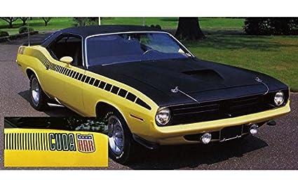 Amazon Com 1970 Plymouth Cuda Aar Strobe Stripes Kit In Flat Black