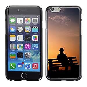 Caucho caso de Shell duro de la cubierta de accesorios de protección BY RAYDREAMMM - Apple Iphone 6 Plus 5.5 - Banco de parque Hombre