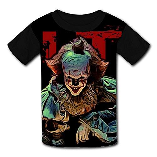 Custom Halloween Pennywise Boys Girls Teenager Tee Shirt Children Youth T-Shirts -