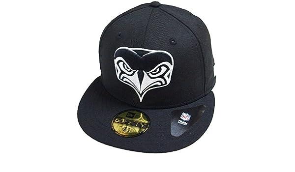 4162b3b0e ... Snapback Hat  good quality cff70 8a2f7 Amazon.com New Era Seattle  Seahawks Alternative Logo Black White NFL ...