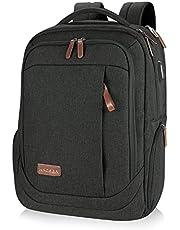 KROSER Laptop Backpack 17.3 Inch Computer Backpack Daypack Water-Repellent Laptop Bag with USB Charging Port for Business/School/Travel/Women/Men-Charcoal Black