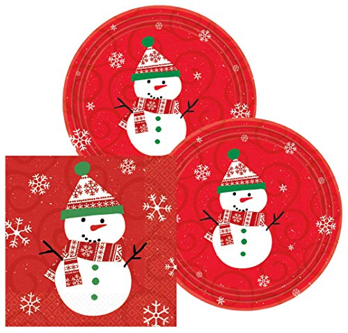 Amscan Very Merry Snowman Christmas Party Supplies Pack