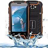 Huadoo V3 IP68 Rugged Smartphone Waterproof Shockproof Dustproof 3G Unlocked Android Dual SIM GPS Navigation(Orange)